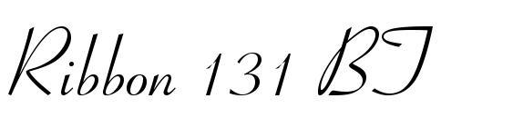 Download free ribbon131 bt regular font | dafontfree. Net.
