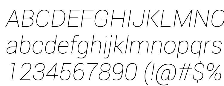 roboto thin font