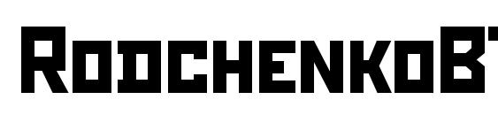 RodchenkoBTT Font, All Fonts