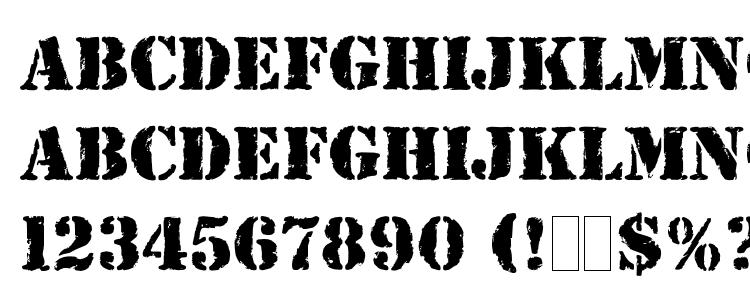 Glyphs Rubber Stamp LET Plain Font Haracters Symbols