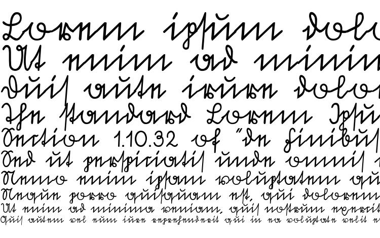 specimens Sütterlin font, sample Sütterlin font, an example of writing Sütterlin font, review Sütterlin font, preview Sütterlin font, Sütterlin font