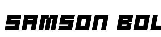 Шрифт Samson bold oblique