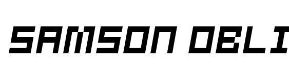 Шрифт Samson oblique