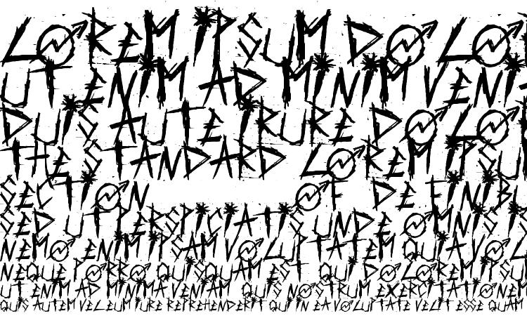 царапанный шрифт