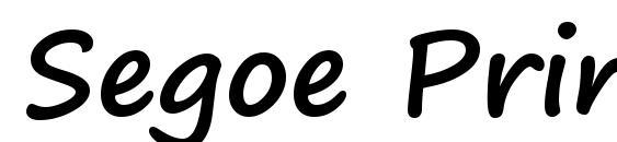 Шрифт Segoe Print Bold