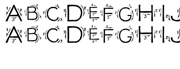 Single stroke Font Download Free / LegionFonts
