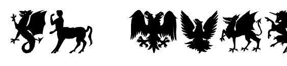 Sl mythological silhouettes Font