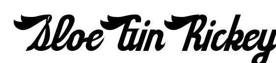 SloeGinRickey Regular Font