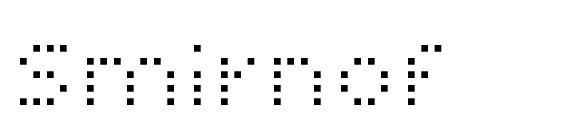 Smirnof Font
