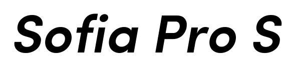 Sofia Pro SemiBold Italic Font
