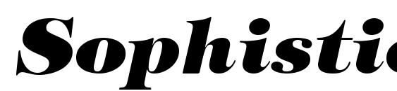Sophisticate Ultra SSi Black Italic Font