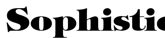 Sophisticate Ultra SSi Black font, free Sophisticate Ultra SSi Black font, preview Sophisticate Ultra SSi Black font