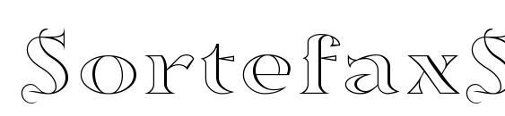 шрифт SortefaxS01, бесплатный шрифт SortefaxS01, предварительный просмотр шрифта SortefaxS01