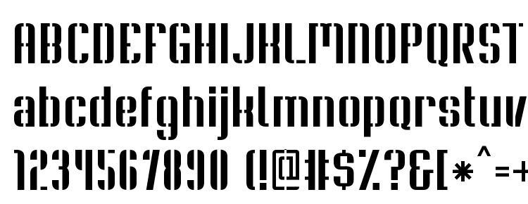 глифы шрифта Soupertrouper stencil, символы шрифта Soupertrouper stencil, символьная карта шрифта Soupertrouper stencil, предварительный просмотр шрифта Soupertrouper stencil, алфавит шрифта Soupertrouper stencil, шрифт Soupertrouper stencil