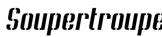 Soupertrouper stenciloblique Font