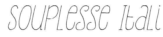 Souplesse Italic Font