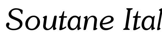 шрифт Soutane Italic, бесплатный шрифт Soutane Italic, предварительный просмотр шрифта Soutane Italic