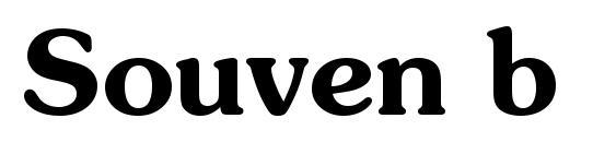 шрифт Souven b, бесплатный шрифт Souven b, предварительный просмотр шрифта Souven b