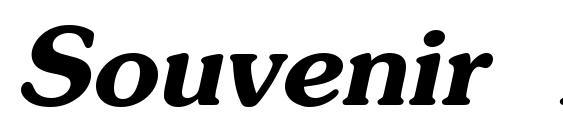 Шрифт Souvenir Bold Italic
