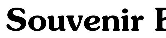 Souvenir Bold Font