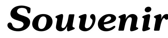 Шрифт Souvenirc bolditalic