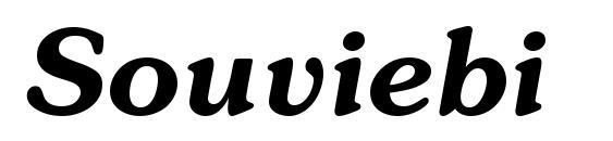 Souviebi font, free Souviebi font, preview Souviebi font