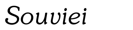 Шрифт Souviei