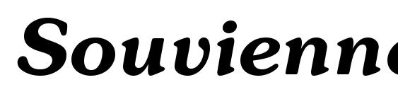 Шрифт Souvienne Bold Italic