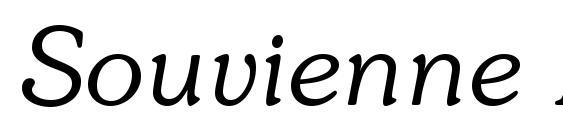 Шрифт Souvienne Italic