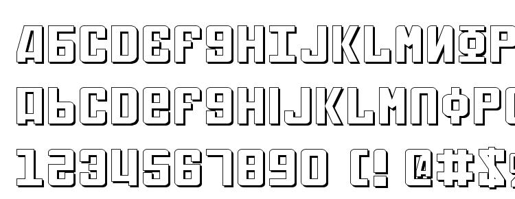 глифы шрифта Soviet Expanded 3D, символы шрифта Soviet Expanded 3D, символьная карта шрифта Soviet Expanded 3D, предварительный просмотр шрифта Soviet Expanded 3D, алфавит шрифта Soviet Expanded 3D, шрифт Soviet Expanded 3D