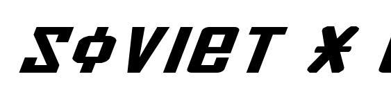шрифт Soviet X Expanded Italic, бесплатный шрифт Soviet X Expanded Italic, предварительный просмотр шрифта Soviet X Expanded Italic