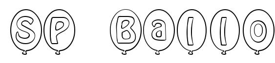 Шрифт SP Ballon Bold DB