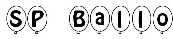 шрифт SP Ballon Italic DB, бесплатный шрифт SP Ballon Italic DB, предварительный просмотр шрифта SP Ballon Italic DB