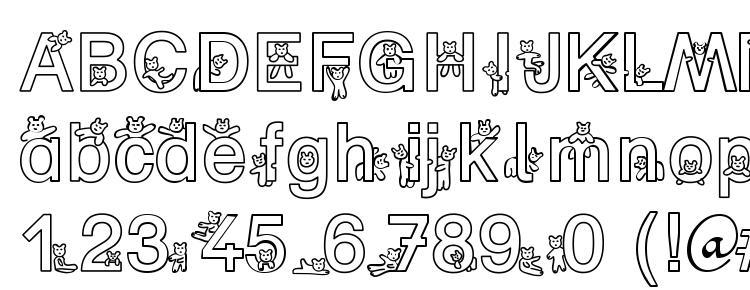 glyphs SP Bear DB font, сharacters SP Bear DB font, symbols SP Bear DB font, character map SP Bear DB font, preview SP Bear DB font, abc SP Bear DB font, SP Bear DB font