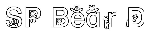 SP Bear DB font, free SP Bear DB font, preview SP Bear DB font