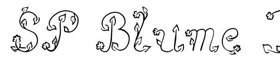 шрифт SP Blume DB, бесплатный шрифт SP Blume DB, предварительный просмотр шрифта SP Blume DB