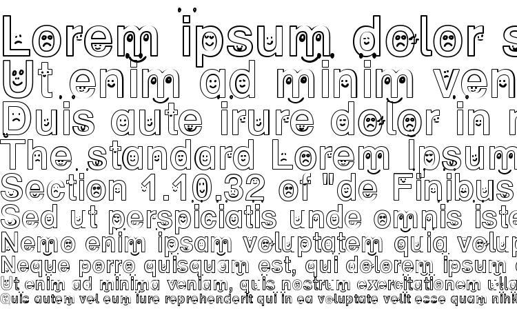 specimens SP Face DB font, sample SP Face DB font, an example of writing SP Face DB font, review SP Face DB font, preview SP Face DB font, SP Face DB font