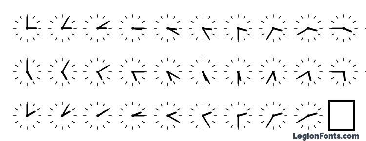 глифы шрифта SP Uhr6 DB, символы шрифта SP Uhr6 DB, символьная карта шрифта SP Uhr6 DB, предварительный просмотр шрифта SP Uhr6 DB, алфавит шрифта SP Uhr6 DB, шрифт SP Uhr6 DB