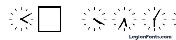 шрифт SP Uhr6 DB, бесплатный шрифт SP Uhr6 DB, предварительный просмотр шрифта SP Uhr6 DB