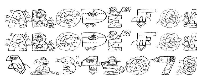 глифы шрифта Space attack, символы шрифта Space attack, символьная карта шрифта Space attack, предварительный просмотр шрифта Space attack, алфавит шрифта Space attack, шрифт Space attack