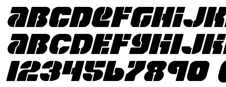 глифы шрифта Space Cruiser Italic, символы шрифта Space Cruiser Italic, символьная карта шрифта Space Cruiser Italic, предварительный просмотр шрифта Space Cruiser Italic, алфавит шрифта Space Cruiser Italic, шрифт Space Cruiser Italic