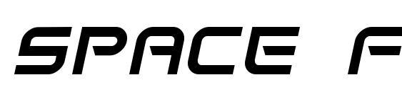 Space frigate italic font, free Space frigate italic font, preview Space frigate italic font