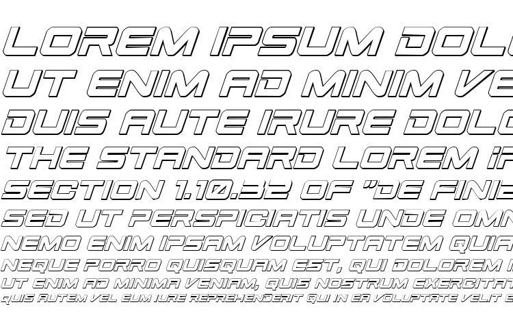 specimens Space Ranger 3D Italic font, sample Space Ranger 3D Italic font, an example of writing Space Ranger 3D Italic font, review Space Ranger 3D Italic font, preview Space Ranger 3D Italic font, Space Ranger 3D Italic font
