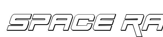 шрифт Space Ranger 3D Italic, бесплатный шрифт Space Ranger 3D Italic, предварительный просмотр шрифта Space Ranger 3D Italic