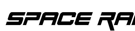 Шрифт Space Ranger Italic