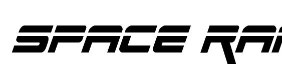 Space Ranger Laser Italic Font