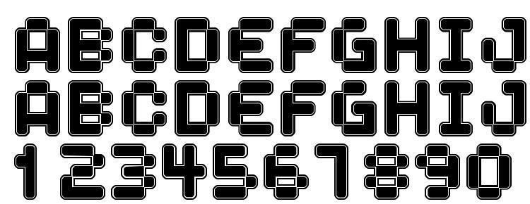 глифы шрифта Spaceboy, символы шрифта Spaceboy, символьная карта шрифта Spaceboy, предварительный просмотр шрифта Spaceboy, алфавит шрифта Spaceboy, шрифт Spaceboy