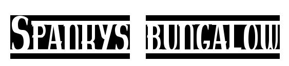 Spankys bungalow blanco font, free Spankys bungalow blanco font, preview Spankys bungalow blanco font