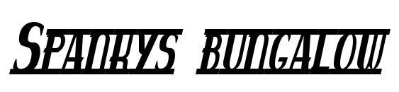 Шрифт Spankys bungalow italico
