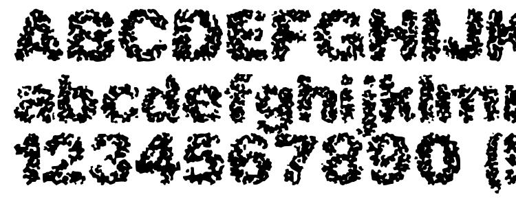 глифы шрифта Spastic (BRK), символы шрифта Spastic (BRK), символьная карта шрифта Spastic (BRK), предварительный просмотр шрифта Spastic (BRK), алфавит шрифта Spastic (BRK), шрифт Spastic (BRK)